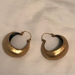 Alexis Bittar gold hoop earrings